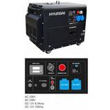 Generador Electrico Hyundai 6,3kva 8000se Diesel Cerrado - I