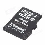 Genuine Kingston Micro Sdhc/cartão De Memória Tf-preto (4gb)