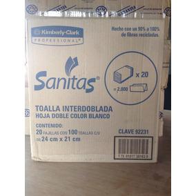 2 Cajas De Toalla Interdoblada Sanitas. Envió Gratis
