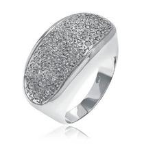 Anel Pavê Com 31 Diamantes Largura 15mm Em Ouro Branco