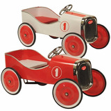 Auto Clasico Antiguo Juguete Pedal Chapa Madera Casa Valente