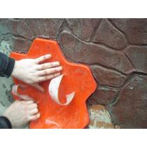 Molde Estampado Piso Y Pared Estilo Piedra De Facil Manejo