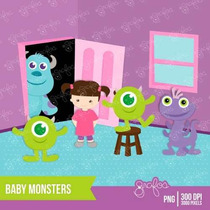 Kit Imprimible Monsters Inc 2 Imagenes Clipart