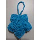 Colgante De 1 Estrella, Tejida A Crochet. Ideal Souvenirs