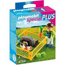 4794 Playmobil Special Menina Com Porquinhos Da India