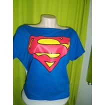 Blusa Ombro Caido Super Homem