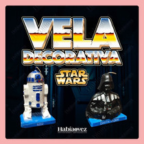 Vela De Star Wars Para Pastel Y Fiesta Temática