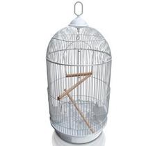 Gaiola Redonda Luxo Para Pássaros Grande 74cm