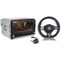 Kit Volante + Central Multimídia Gol G2 G3 G4 Tv Dvd Gps Mp3
