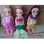 3 Princesas Disney Ariel, Bela Adormecida E Branca De Neve