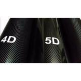 Film Vinilo Fibra Carbono Negro Holograma 4d Tuning Auto M2