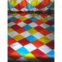 Tecido Cetim Losango Colorido - 10m X 1.50 Cm De Largura