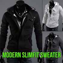 Modern Sueter Hoodie Sudadera Slim Fit Moda Japonesa 1 Dia!