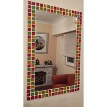 Espejo Venecitas Decorativo 70 X 50cm Baño Living Comedor.