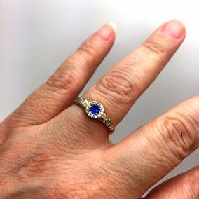 Anel Formatura Pedra Azul Feminino Adminstraçao Engenharia