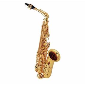 Saxofone Alto Mib Dourado (novo) Frete Gratis Com Garantia