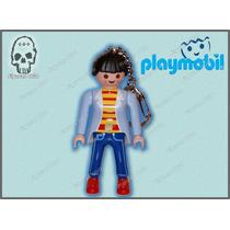 Llavero Señora Sueter Azul, Ciudad Playmobil Ugo