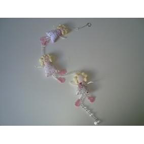 Móbile Infantil Cordão Miçangas Bonecas Tecido Estampado 04