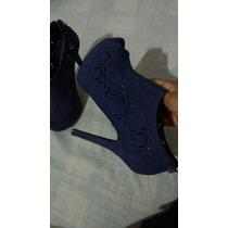 Sapato Nobuck Via Marte Roxo. 35