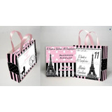 Tarjetas De Invitacion Carterita Paris - Torre Eiffel - Epve