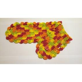 Bufanda Corta De Verano, Crochet, Ideal Para Un Regalo