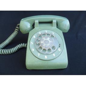 Antiguo Telefono Verde Itt Retro Vintage Decoracion Entel