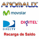 Recarga Tu Saldo Inter Movistar Digitel Y Directv 24 Horas