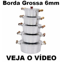 Jogo Panela Caçarola Alumínio Batido + 8 Brindes Veja Video