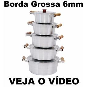 Jogo Panela Caçarola Alumínio Batido +8 Brindes Veja Vídeo G