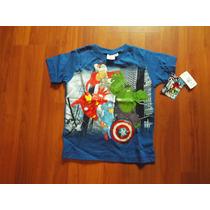 Playera Niño Avengers 4 Años Con Luz