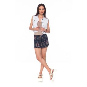 Chalecos Mujer Blanco Jean Elastizado Octanos - Fiorella