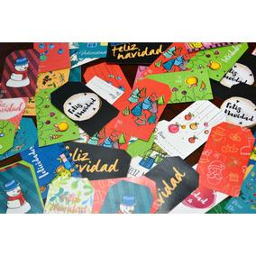 Etiquetas Navideñas / Tags De Navidad X50 Unidades