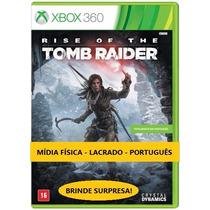 Rise Of The Tomb Raider X360 Mídia Física Português Lacrado