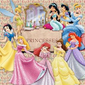 Kit Digital Editavel Scrapbook Elementos Princesas Disney