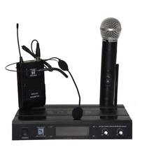 Micrófono Inalambrico Doble Vincha + Mano Uhf Gcm Pro