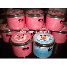 Souvenir Minnie Y Mickey - Latas Personalizadas, Carameleras