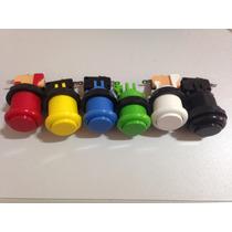 Kit 10 Botões Fliperama Aegir Arcade Monte O Seu Joystick