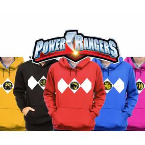Kit 5 Moletons Casaco Power Rangers Filme 2017 Blusão