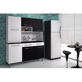 Lindo Armário De Cozinha Kit Aurora Com 6 Portas 2 Gavetas