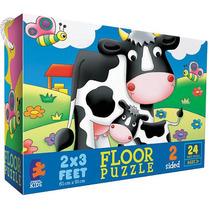 Vacas En Corral Piso - Puzzle De 24 Piezas
