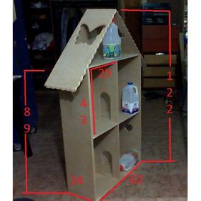 Casa Grande Para Muñeca Barbie 62 Por 24 Por 122 Mdf De 9 Mm