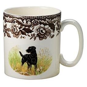 Spode Woodland Caza Taza De Labrador Negro Perros