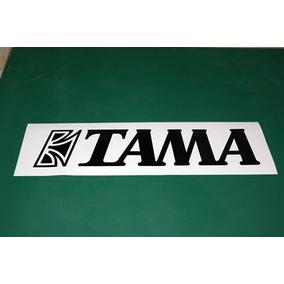 2 Stickers Vinil Tama Logotipo Bateria Bombo Parche