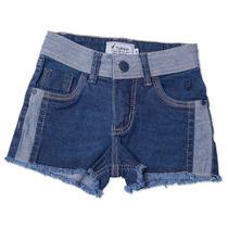 Shorts Jeans Infantil Feminino Tamanho 04 - Toffee
