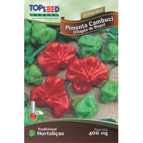 100 Sementes De Pimenta Cambuci 0,4g P/ Vaso Horta Jardim