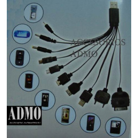 Cargador Usb 10 En 1 Celulares Blackberry Ipod Iphone Etc...