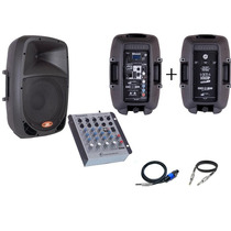 Kit Caixa Ativa Usb 10 + Passiva + Mesa Som - Black Friday