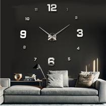 Relógio De Parede Espelhado Grande Decorativo Sala