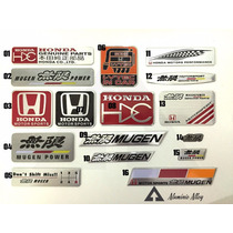 Emblema Honda Mugen Alumínio Automotivo Civic Todos Modelos