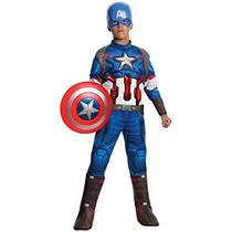 Traje Vengadores De Rubie 2 Edad De Capitán América Deluxe